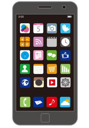 43318501 - smart phone vector